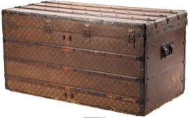 61063 A Large Louis Vuitton Steamer Trunk Paris Fran