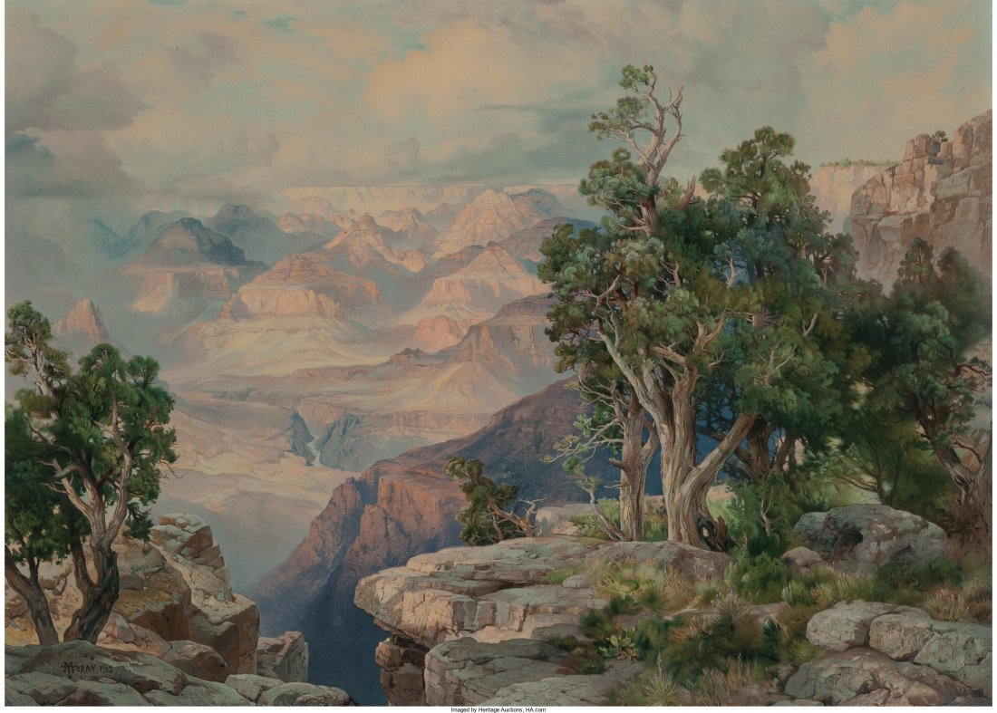 61613: Thomas Moran (American, 1837-1926) Grand Canyon,