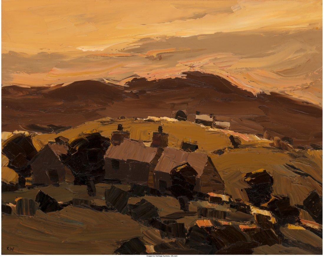 61569: Kyffin Williams (British, 1918-2006) Sunset Over