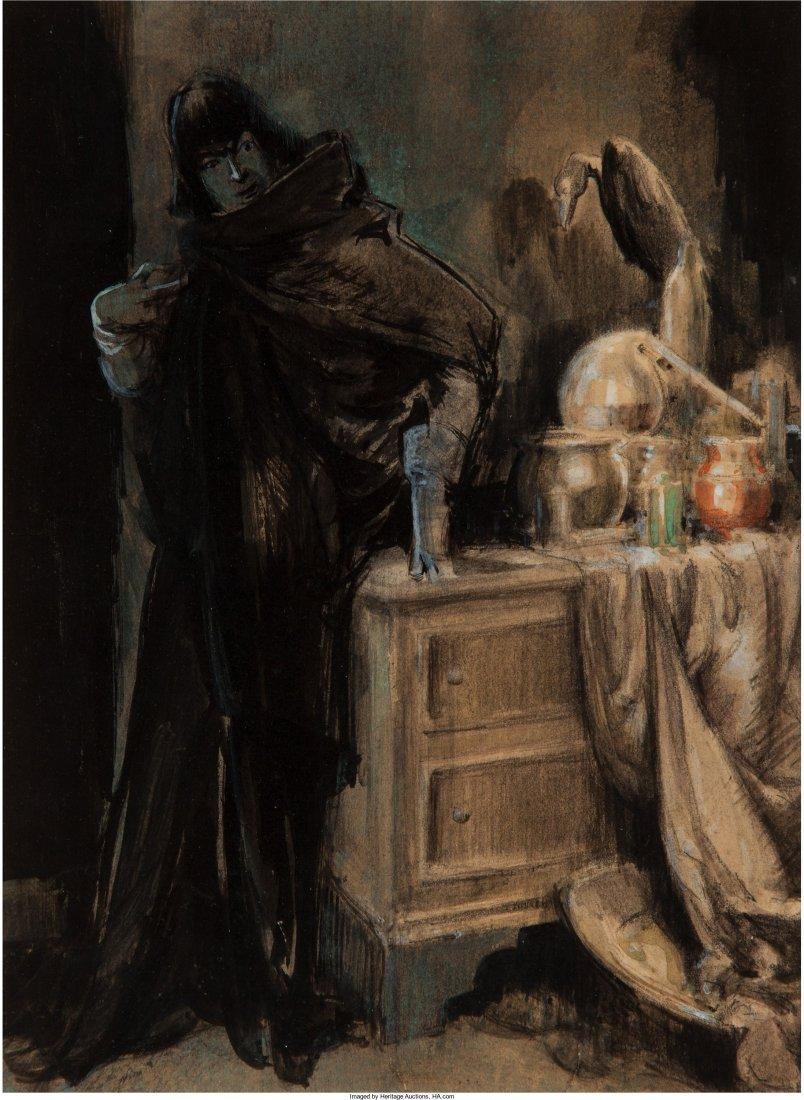 61776: Everett Shinn (American, 1876-1953) The Golden L
