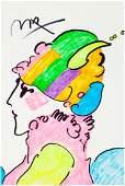 61750: Peter Max (American, b. 1937) Lady in Profile Ma