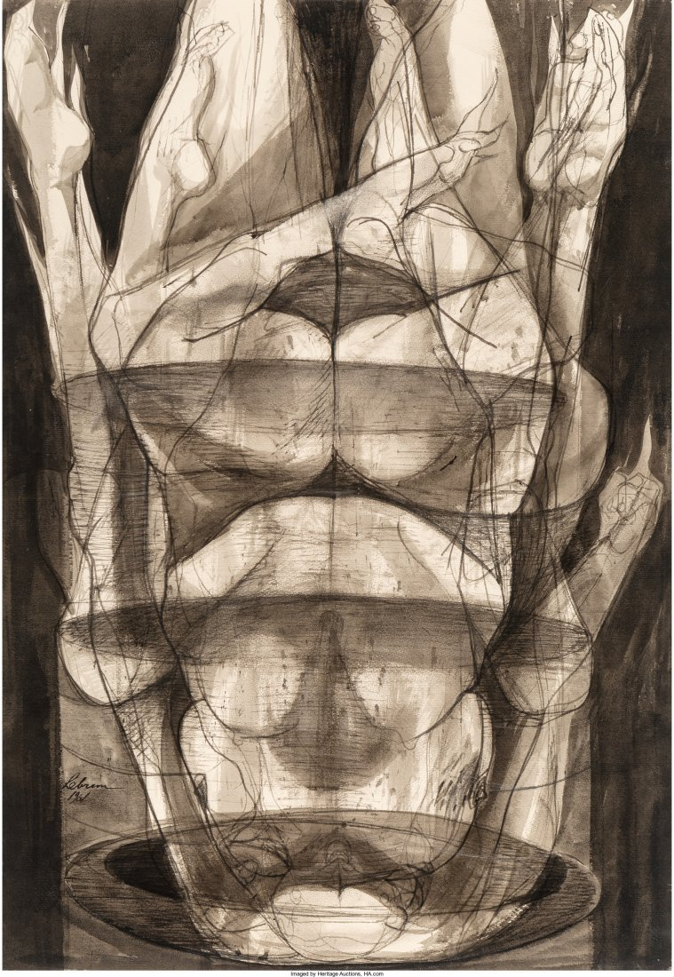 61760: Rico Lebrun (American, 1900-1964) Several Flamin