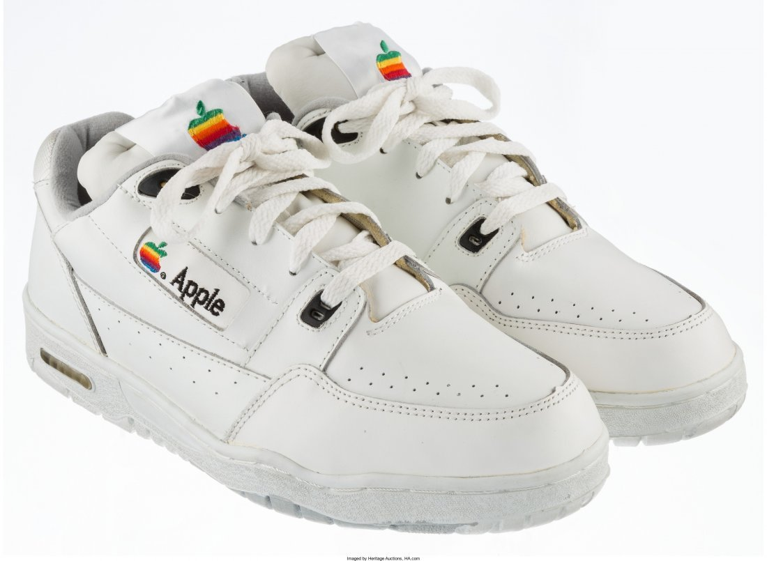 77001: Apple Apple Computer Sneakers, circa ea