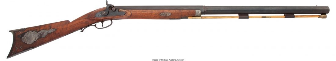 40014: Bell / London Marked Percussion Rifle.  Unserial