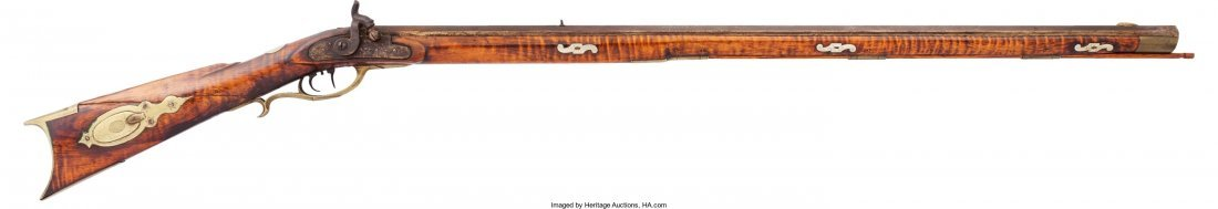 40016: Pennsylvania Full-Stock Percussion Rifle.  Unser