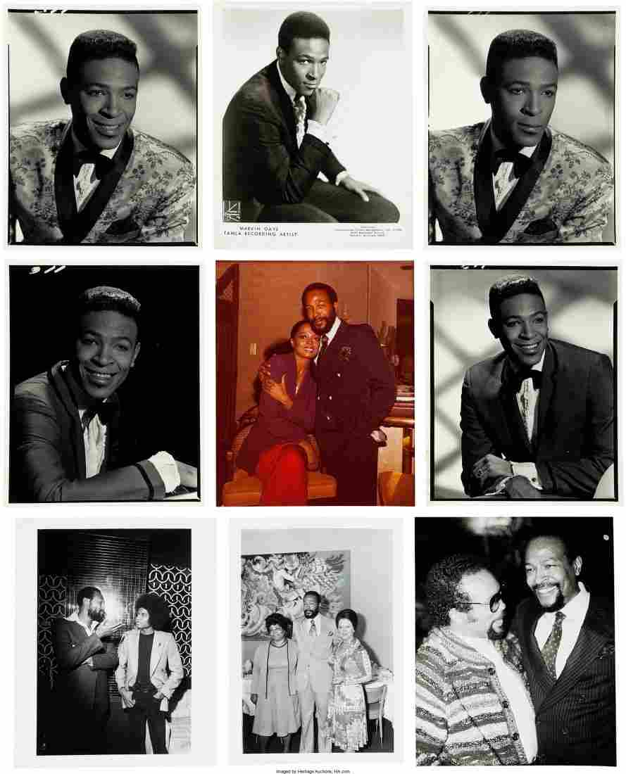 89605: Marvin Gaye Large Collection of Assorted Black a