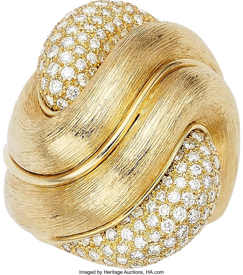 55020: Diamond, Gold Ring, Henry Dunay  The Sabi ring f