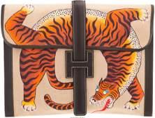 58121: Hermes Customized Marron Fonce Calf Box Leather