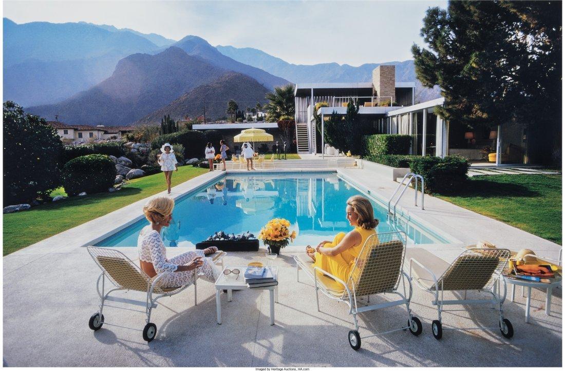11002: Slim Aarons (American, 1916-2006) Poolside Gossi
