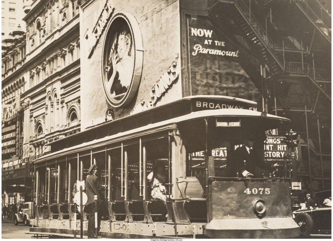11003: Berenice Abbott (American, 1898-1991) Trolley Ca
