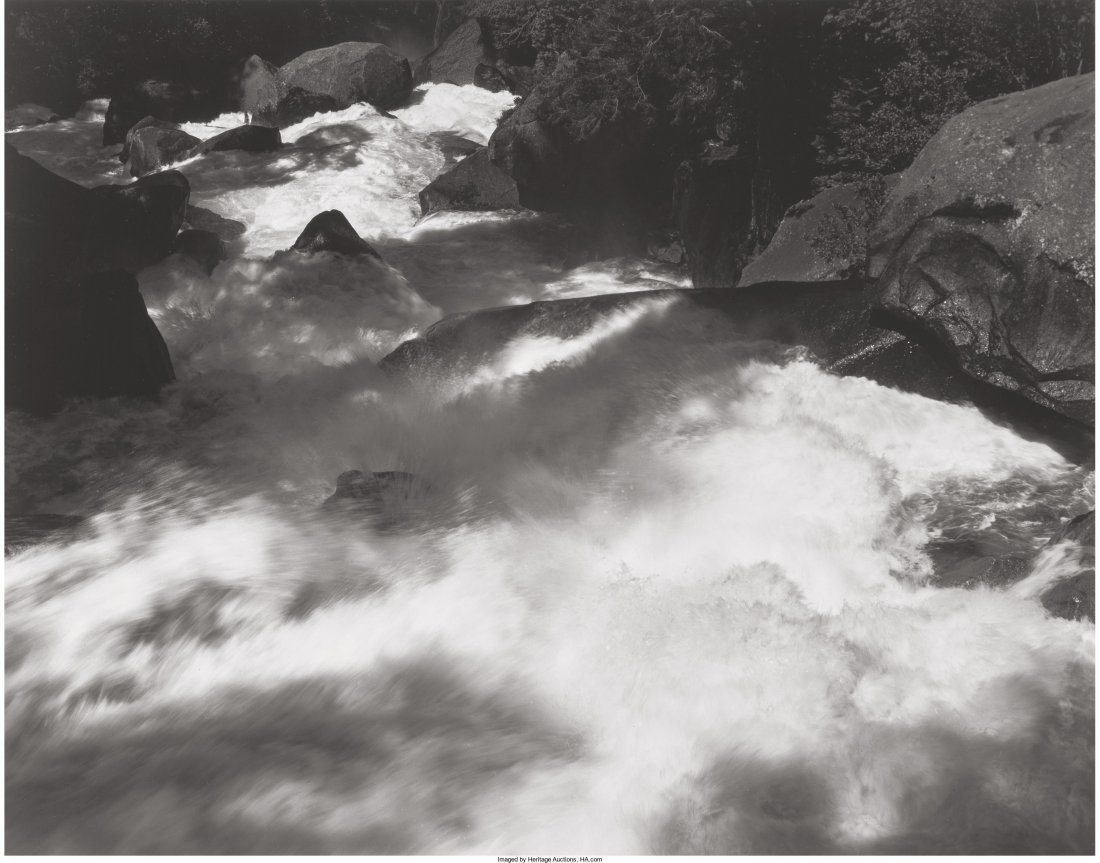 11006: Ansel Adams (American, 1902-1984) Rapids Below V