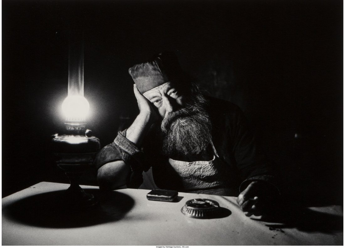 11009: Micha Bar-Am (German, 1930) Torah Scribe Jaffa (