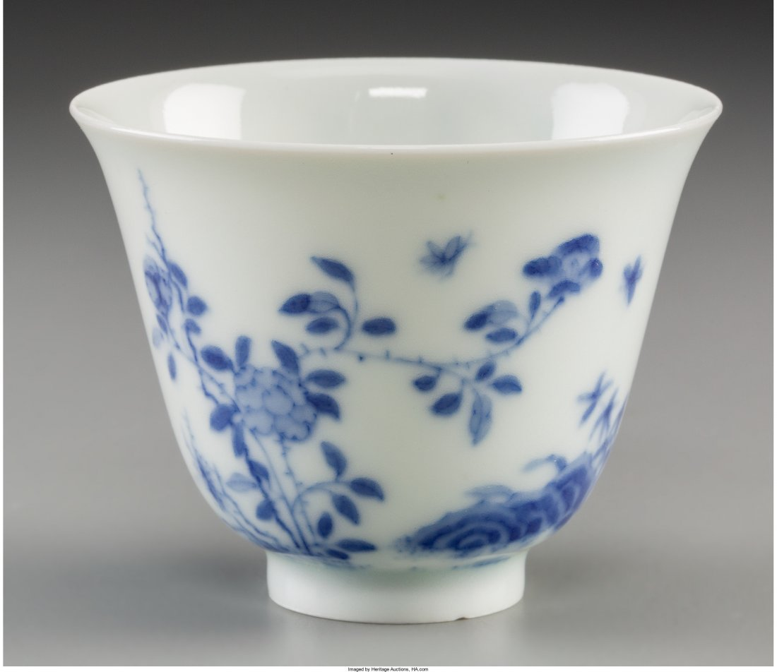 78288: A Chinese Blue and White Porcelain Month Cup, Qi