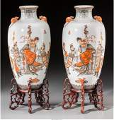 78294: A Fine Pair of Chinese Enameled Porcelain Vases