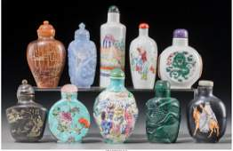 78046: Ten Chinese Porcelain, Hardstone, and Mixed Medi