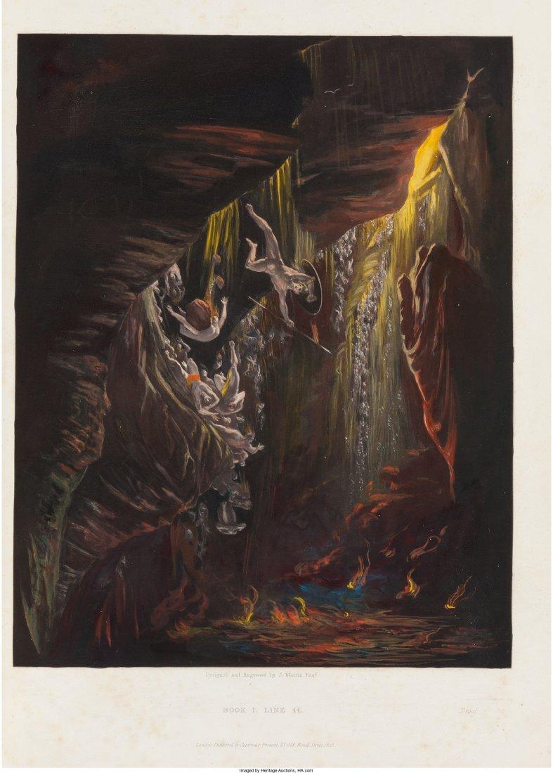 45157: [John Milton]. John Martin (engraver). Mezzotint
