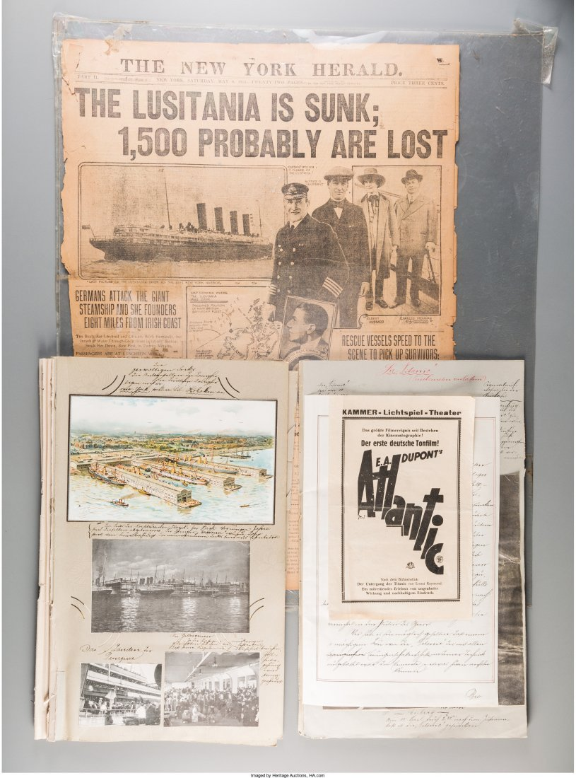A German Scrapbook on the Titanic Disaster with