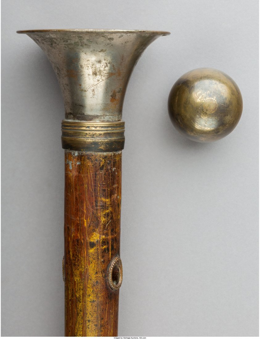 A Trumpet Player's Walking Stick, late 19th century