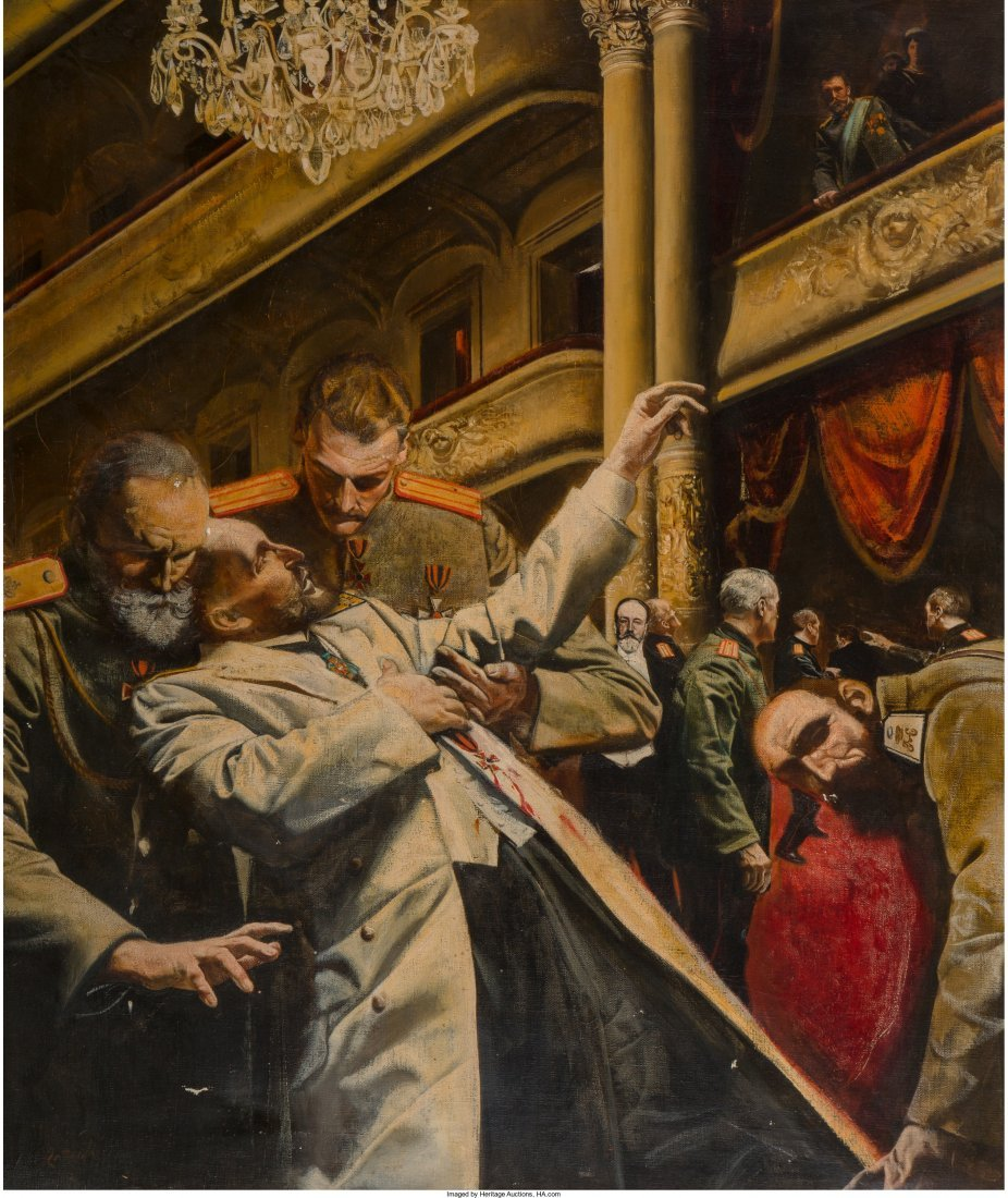 Morton Roberts (American, 1927-1964) Assassination of