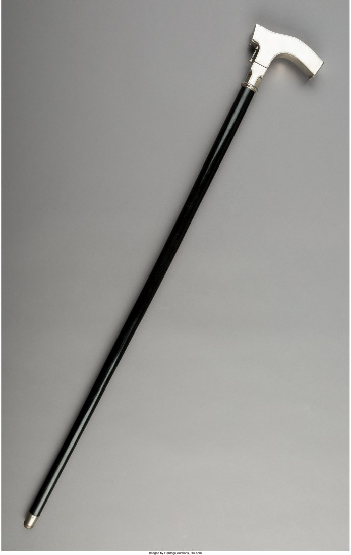 A Rare Lehmann Ben Akiba Chrome and Ebonized Wood Spy - 3