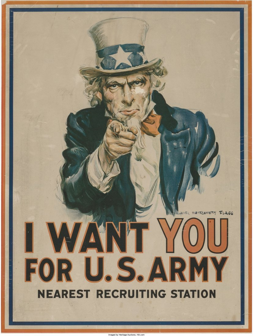 James Montgomery Flagg (American, 1877-1960) Uncle Sam
