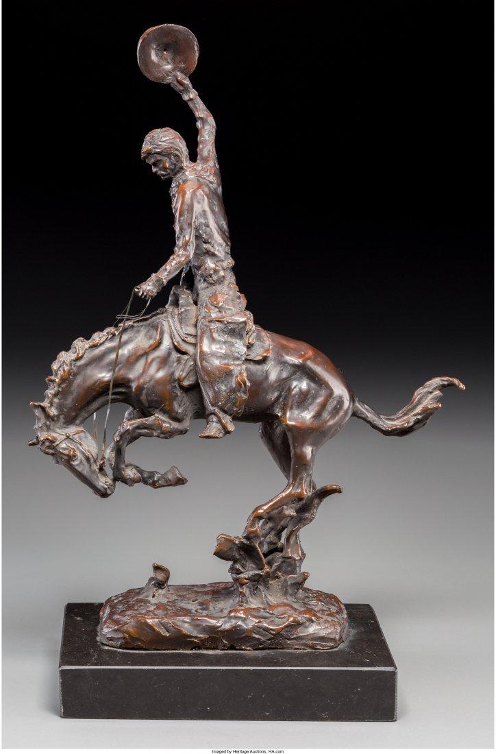 Carl Kauba (Austrian, 1865-1922) Bucking Bronco Bronze