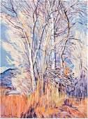 Robert Daughters (American, b. 1929) Cottonwood Grove