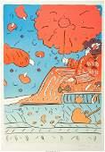 Peter Max (American, b. 1937) Umbrella Lady 15, circa