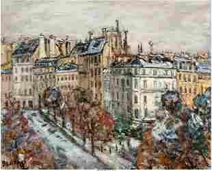 Arbit Blatas (American, 1909-1999) Scène de Paris Oil