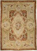 A Large Louis XV-Style Needlepoint Carpet 145 x 108