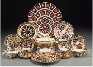 A Two Hundred and Twenty-Piece Royal Crown Derby Old