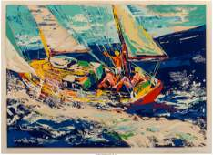 LeRoy Neiman American 19212012 North Sea Sailing