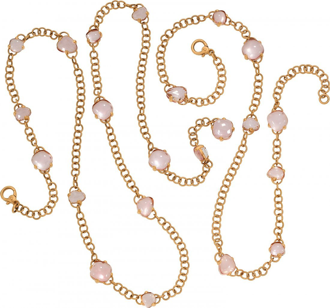 55113: Quartz, Rose Gold Necklaces, Pomellato   The nec