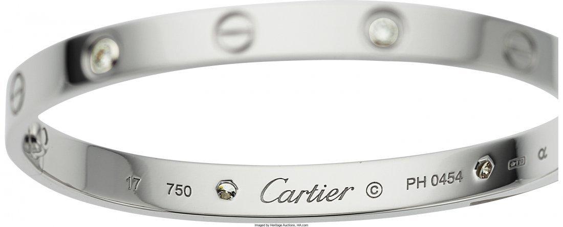 55008: Diamond, White Gold Bracelet, Cartier  The Love  - 2