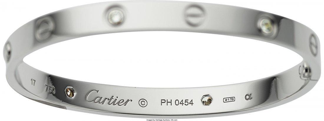 55008: Diamond, White Gold Bracelet, Cartier  The Love  - 3