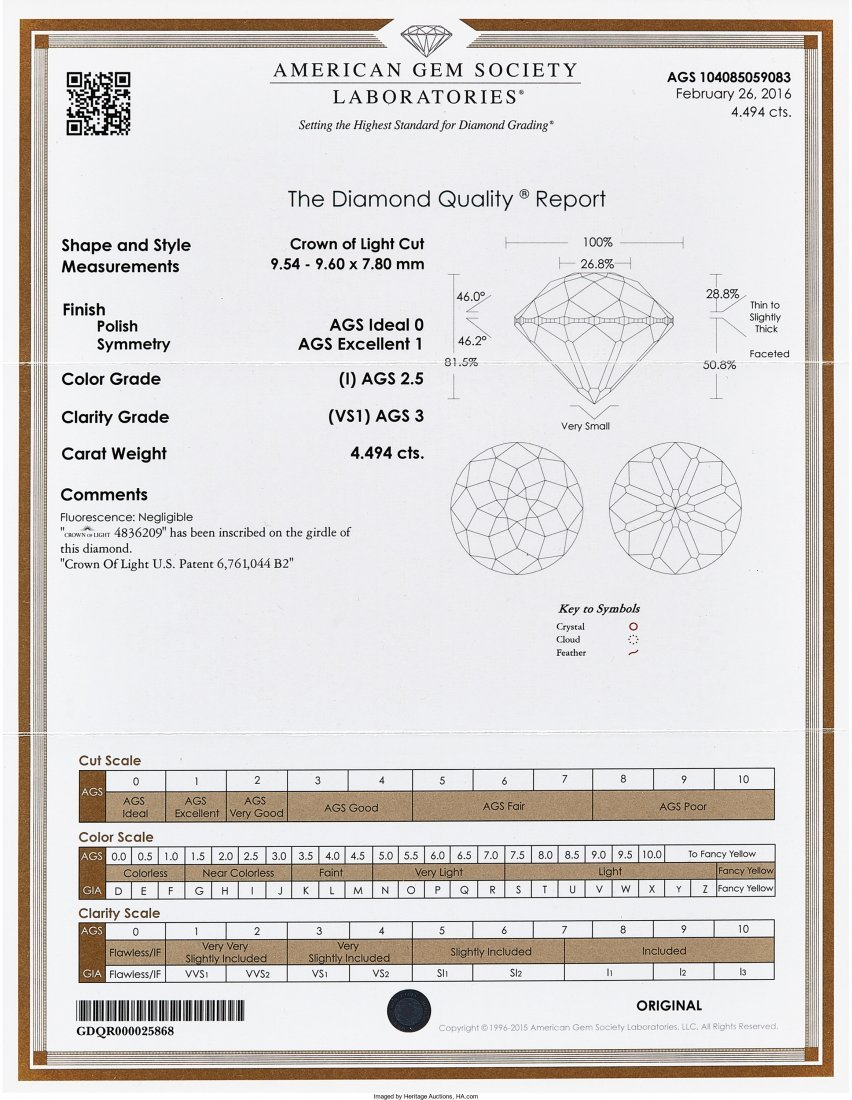 55209: Unmounted Diamond  The Crown of Light©-cut diam - 2