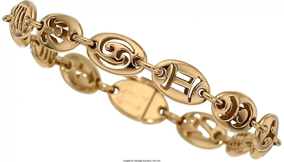 55012: Gold Bracelet, Van Cleef & Arpels   The 18k gold