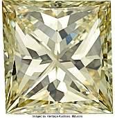 55211 Unmounted Fancy Yellow Diamond  The square modif