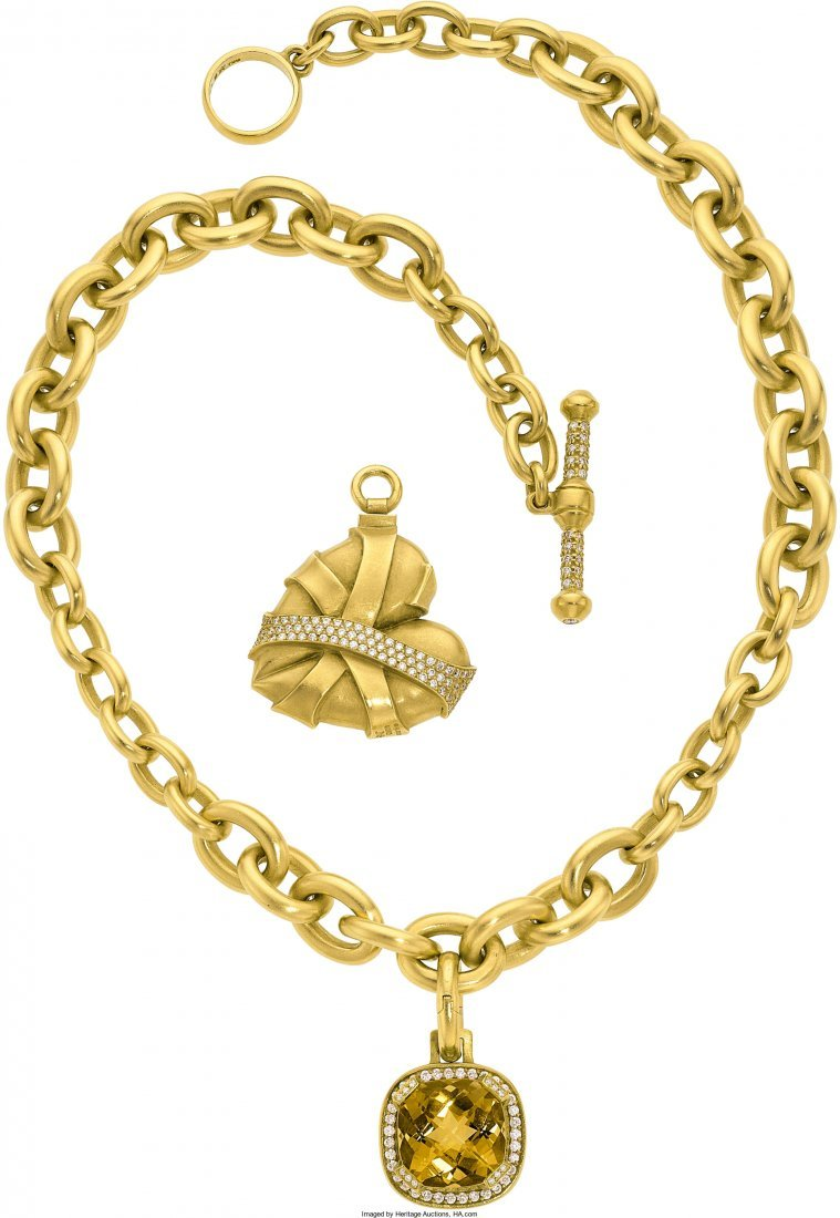 55021: Diamond, Citrine, Gold Jewelry, Kieselstein-Cord