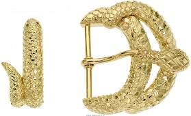 55031: Gold Belt Buckle, David Webb The 18k gold snak