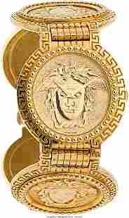 55089: Gianni Versace Unisex Gold Watch Case: 35 mm,