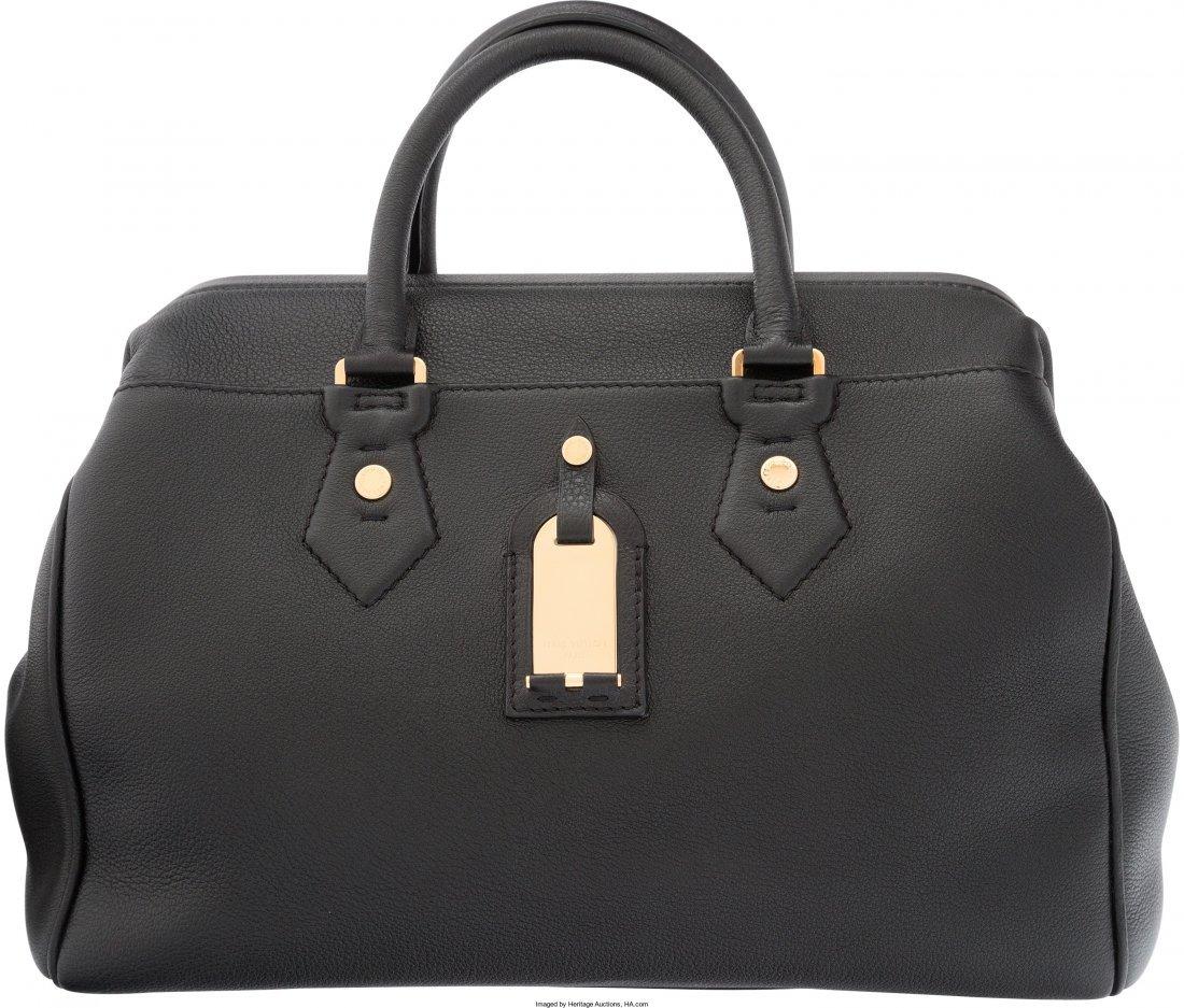 58035: Louis Vuitton Black Leather Defile Femme Intrigu