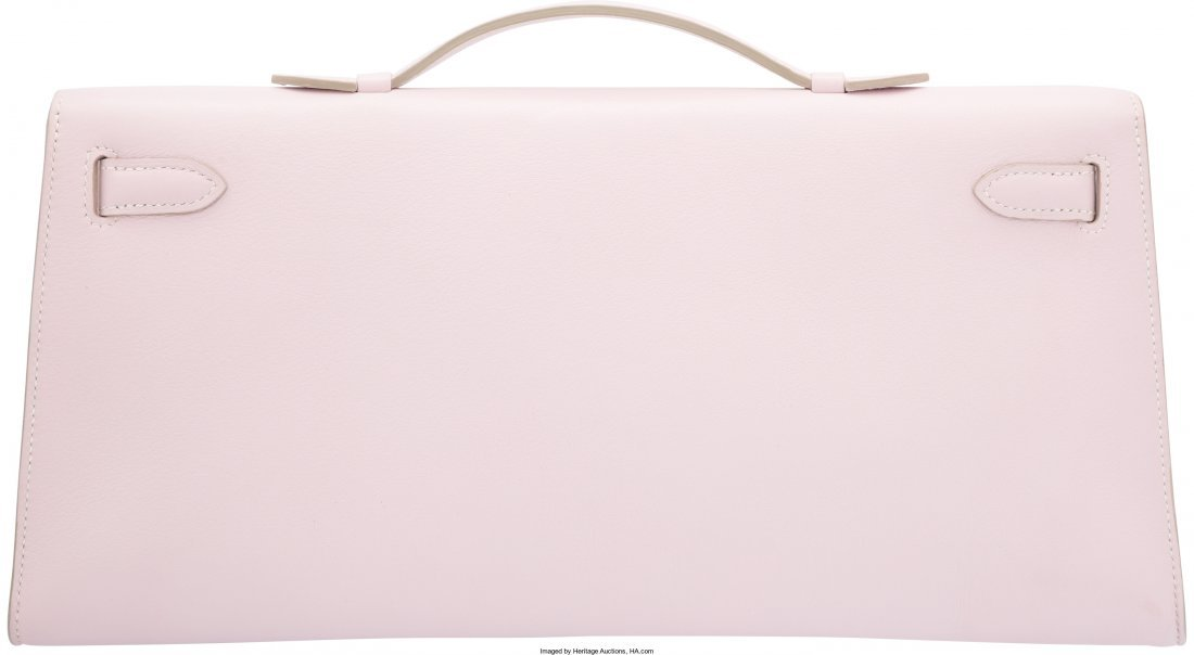 58109: Hermes Rose Dragee Swift Leather Kelly Longue Cl - 2