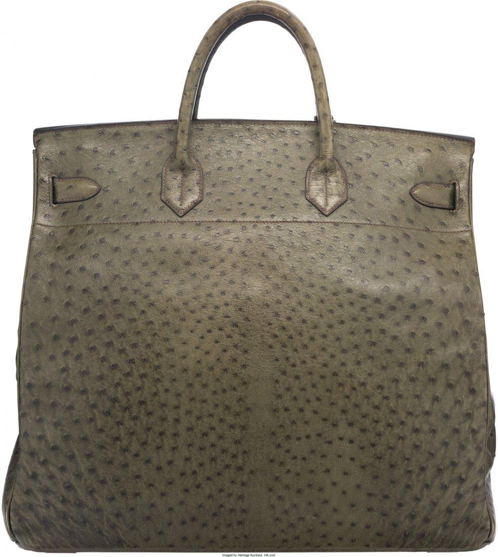 58077: Hermes 45cm Vert Foret Ostrich HAC Birkin Bag wi - 2
