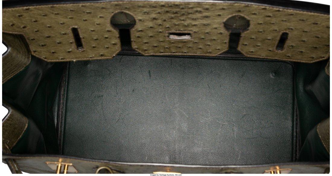 58077: Hermes 45cm Vert Foret Ostrich HAC Birkin Bag wi - 5