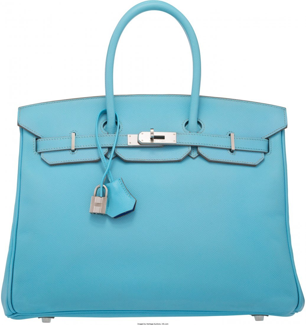 58079: Hermes Limited Edition Candy Collection 35cm Blu