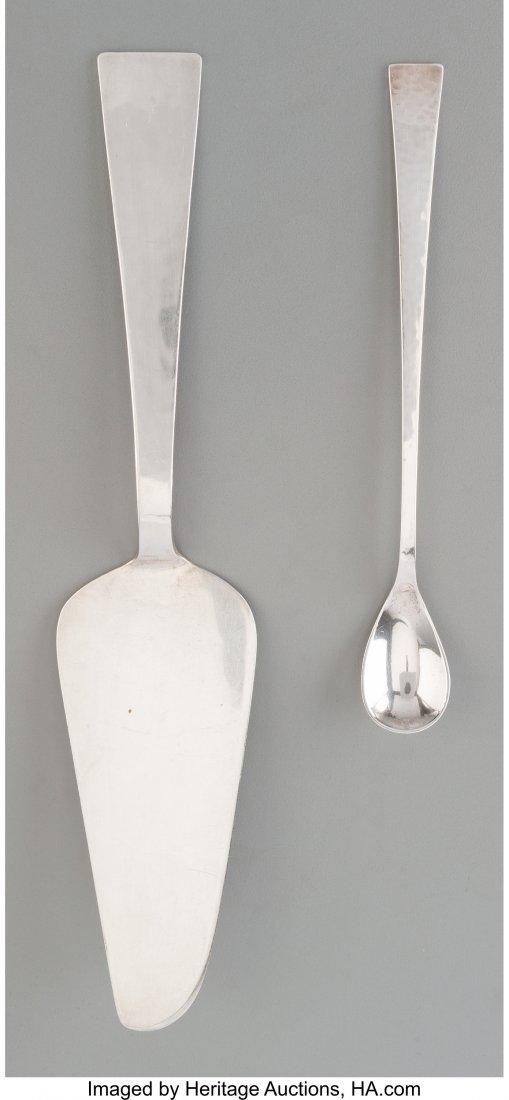 74356: Two Allan Adler Hand-Hammered Silver Serving Pie
