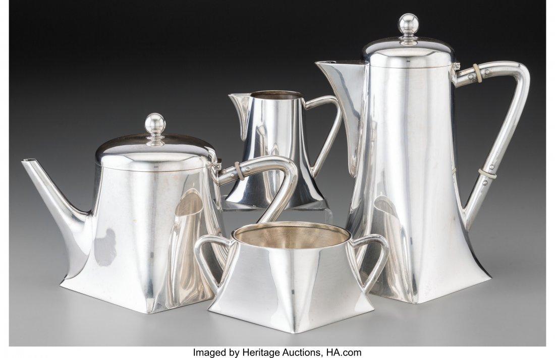 74237: A Four-Piece Koch & Bergfeld Transitional Silver