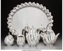 74238: A Five-Piece Fratelli Cacchione Italian Silver T