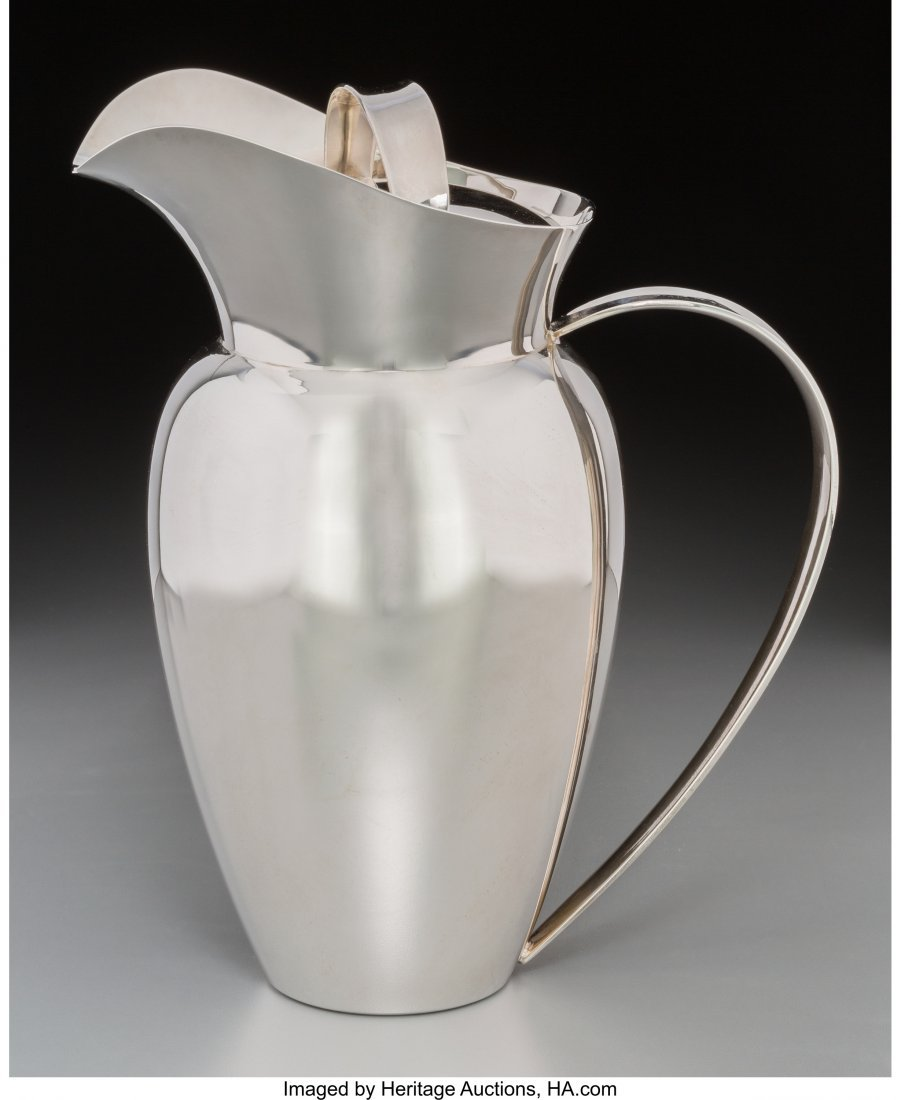 74250: An Allan Adler Silver Covered Pitcher, Los Angel